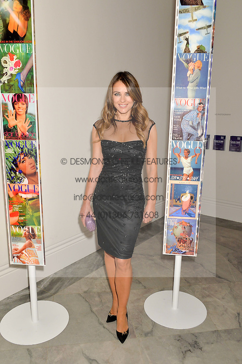 ELIZABETH HURLEY at the Alexandra Shulman and Leon Max hosted opening of Vogue 100: A Century of Style at The National Portrait Gallery, London on 9th February 2016.