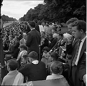 25/06/1961<br /> 06/25/1961<br /> 25 June 1961<br /> Rás Tailteann at Parnell Square, Dublin. The band waiting for the riders to cross the line.<br /> The Rás Tailteann is an annual 8-day international cycling stage race held in Ireland.