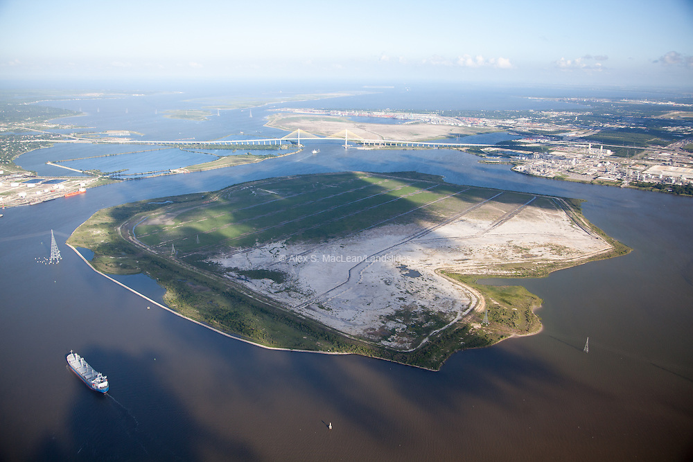 Alexander Island, artificial island in the Houston Ship Channel