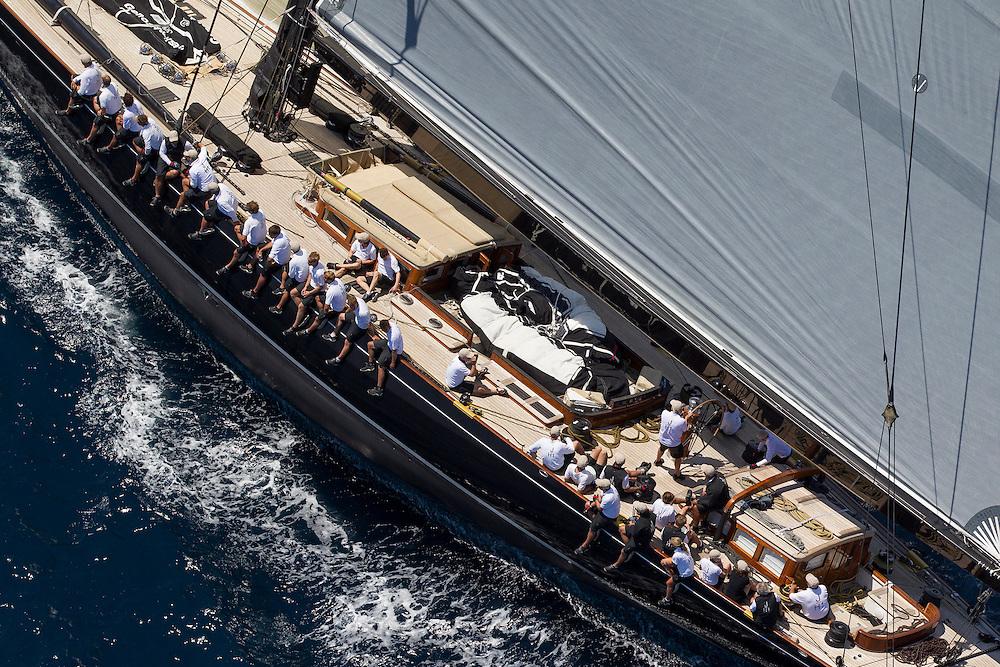SPAIN, Palma. 21st June 2013. Superyacht Cup. J Class. Race three, coastal race. Lionheart.