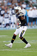 Los Angeles Chargers free safety Dwight Lowery (20) makes a move during the 2017 NFL week 1 preseason football game against the Seattle Seahawks, Sunday, Aug. 13, 2017 in Carson, Calif. The Seahawks won the game 48-17. (©Paul Anthony Spinelli)