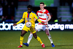 Jeffrey Schlupp of Crystal Palace takes on Danny Andrew of Doncaster Rovers - Mandatory by-line: Robbie Stephenson/JMP - 17/02/2019 - FOOTBALL - The Keepmoat Stadium - Doncaster, England - Doncaster Rovers v Crystal Palace - Emirates FA Cup fifth round proper