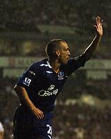 Photo: Tony Oudot.<br /> Tottenham Hotspur v Everton. The Barclays Premiership. 14/08/2007.<br /> Leon Osman of Everton celebrates his goal