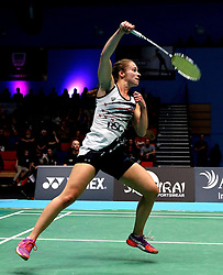 Nicky Cerfontyne of Bristol Jets in action against Team Derby - Photo mandatory by-line: Robbie Stephenson/JMP - 07/11/2016 - BADMINTON - University of Derby - Derby, England - Team Derby v Bristol Jets - AJ Bell National Badminton League