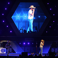 Jason Aldean opens his concert Friday night to near sold out crowd at the BancorpSouth Arena.