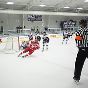 Rebecca Russo, scores for Boston University during the UConn Vs Boston University, Women's Ice Hockey game at Mark Edward Freitas Ice Forum, Storrs, Connecticut, USA. 5th December 2015. Photo Tim Clayton