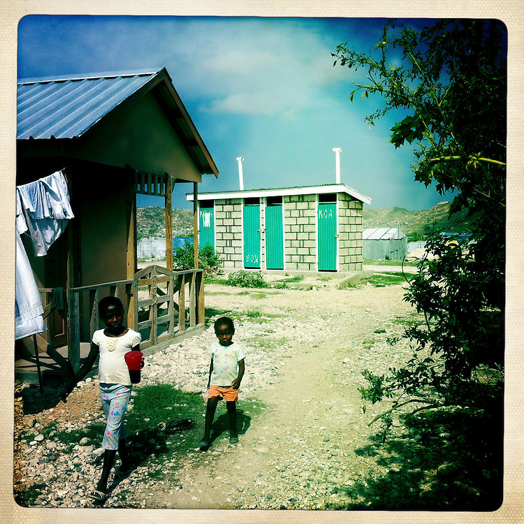 Children at the Corail camp on Thursday, April 5, 2012 in Port-au-Prince, Haiti.