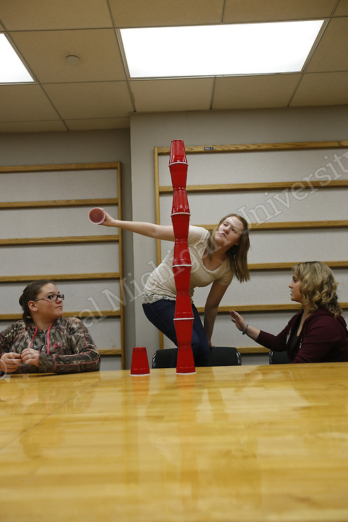 After school program &quot;Connections that Count&quot; at the Student Activities Center on the campus of Central Michigan University. Photo by Steve Jessmore/Central Michigan University<br /> <br /> Connections That Count, but learned a lot more. <br /> <br /> As I'm sure you know, CTC is dedicated to matching CMU students with area children who have special needs. Through a buddy system, two students are matched with a child and they have a lot of fun at the SAC, on the climbing walls and throughout campus. <br /> <br /> Would you be interested in sending a UComm news release about their program? I think it has the following newsworthy attributes.<br /> Connections That Count is just beginning its 12th year and recently became a registered student organization<br /> According to CSE's annual report, CTC tripled in size in 2013-14 and expanded its service to individuals with disabilities and their families in the surrounding area.