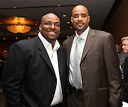ATLANTA, GA - MAY 14:  Former MLB players Bobby Bonilla (left) and Tony Clark attend the MLB Beacon Awards Banquet at the Omni Hotel on May 14, 2011 in Atlanta, Georgia.  (Photo by Mike Zarrilli/Getty Images)