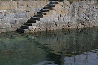 Steps at Kilronan Pier Aran Islands County Galway Ireland