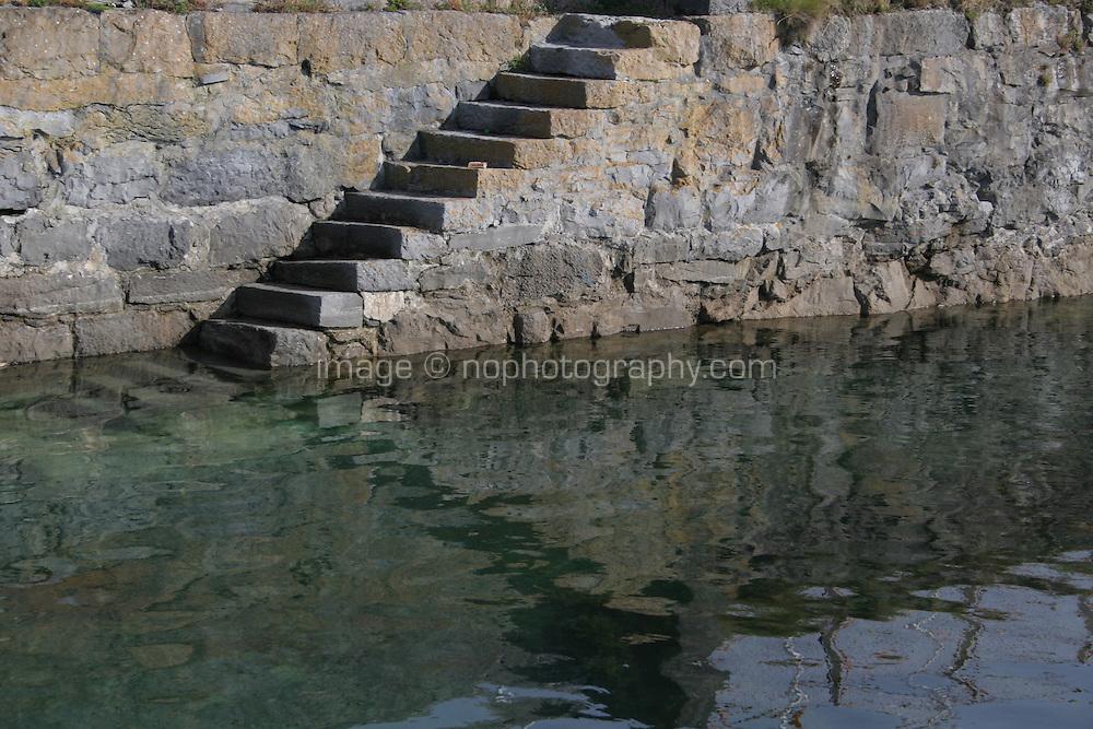 Steps at Kilronan Pier Aran Islands County Galway Ireland