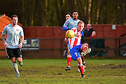 Dorking Wanderers Jake Beecroft during the Ryman League - Div One South match between Dorking Wanderers and Lewes FC at Westhumble Playing Fields, Dorking, United Kingdom on 28 January 2017. Photo by Jon Bromley.