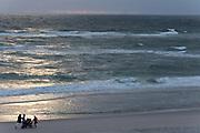 Sylt, Germany. Rantum. Sunset at the beach.
