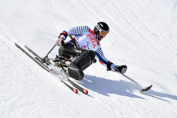 FRANCOIS Frederic LW11 FRA competing in the Para Alpine Skiing Downhill at the PyeongChang2018 Winter Paralympic Games, South Korea