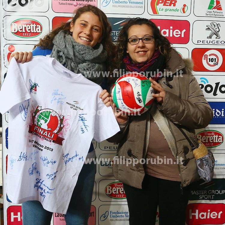 IHF FROSINONE - POMI CASALMAGGIORE.PALLAVOLO COPPA ITALIA A2-F 2012-2013.VARESE 17-03-2013.FOTO FILIPPO RUBIN / LVF.CITAZIONE DEL CREDIT OBBLIGATORIA