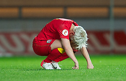 LLANELLI, WALES - Saturday, September 15, 2012: Wales' captain Jessica Fishlock looks dejected as his side lose 2-1 to Scotland during the UEFA Women's Euro 2013 Qualifying Group 4 match at Parc y Scarlets. (Pic by David Rawcliffe/Propaganda)