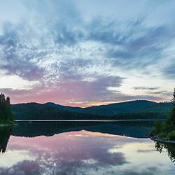 Pushineer Pond in Aroostook County, Maine. Deboullie Public Reserve Land.