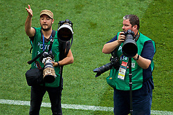 MOSCOW, RUSSIA - Sunday, July 1, 2018: EPA photographer Peter Powell during the FIFA World Cup Russia 2018 Round of 16 match between Spain and Russia at the Luzhniki Stadium. (Pic by David Rawcliffe/Propaganda)
