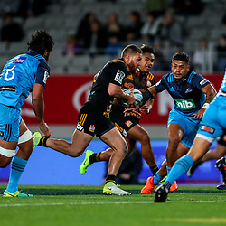 Tawera Kerr-Barlow of the Chiefs during the Super Rugby Match between the Blues and the Chiefs at Eden Park in Auckland, New Zealand on Friday, 26 May 2017. Photo: Simon Watts / www.lintottphoto.co.nz