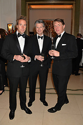 Left to right, BEN FOGLE, MATT YOUNG and NICK FULLMAN at the Tusk Friends Dinner in aid of wildlife charity Tusk held at Claridge's, Brook Street, London on 11th March 2014.
