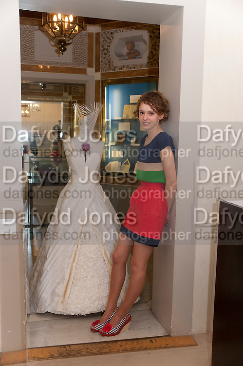 ZOE ROSS, Smythson Royal Wedding exhibition preview. Smythson together with Janice Blackburn has commisioned 5 artist designers to create their own interpretations of  Royal wedding memorabilia. Smythson. New Bond St. London. 5 April 2011.  -DO NOT ARCHIVE-© Copyright Photograph by Dafydd Jones. 248 Clapham Rd. London SW9 0PZ. Tel 0207 820 0771. www.dafjones.com.