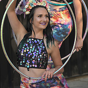 Hire a dancer performs at the International Busking Day is returning to Wembley Park on 20 July 2019, London, UK.