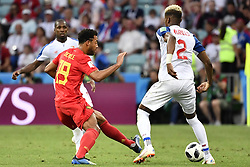 June 18, 2018 - Sochi, RUSSIA - Belgium's Mousa Dembele and Panama's Michael Murillo fight for the ball during the first round soccer match between Belgian national soccer team the Red Devils and Panama in Group G of the FIFA World Cup 2018, in Sochi, Russia, Monday 18 June 2018. BELGA PHOTO DIRK WAEM (Credit Image: © Dirk Waem/Belga via ZUMA Press)