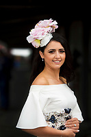 06/08/2017 Eto Lydon from Ballinrobe who was celebrating her 1st day as a married woman at the Galway Races on the last day of the Summer festival.  Andrew Downes, xposure
