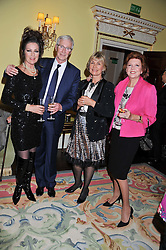 Left to right, LORRAINE CHASE, PAUL O'GRADY, ALEXANDRA BASTEDO and CILLA BLACK at Ambassador Earle Mack's 60's reunion party held at The Ritz Hotel, London on 18th June 2012.