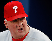 Phillies manager Charlie Manuel during the game between the Atlanta Braves and the Philadelphia Phillies at Turner Field in Atlanta, GA on April 30, 2007..