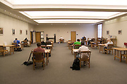 Lincoln Nebraska NE USA, Student in a study room at the library at the Nebraska University