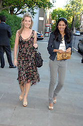 Left to right, OLIVIA BUCKINGHAM and SALONI LODHA at the launch of The Rupert Lund Showroom, 61 Chelsea Manor Street, London SW3 on 2nd May 2007.<br /><br />NON EXCLUSIVE - WORLD RIGHTS