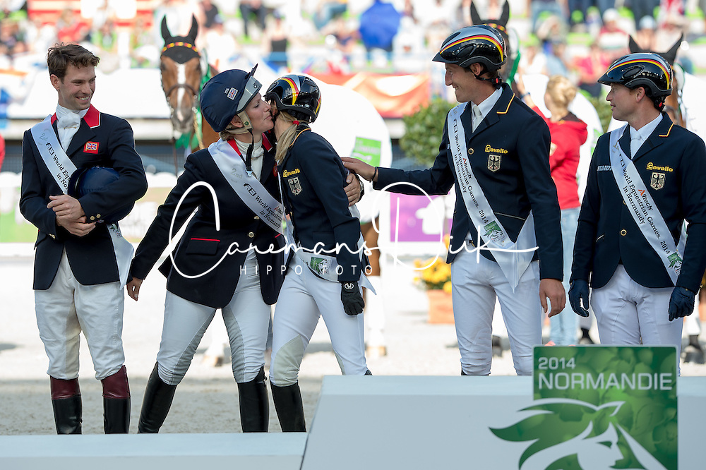 Team GER world champion team test - Alltech FEI World Equestrian Games™ 2014 - Normandy, France.<br /> © Hippo Foto Team - Jon Stroud<br /> 31-08-14