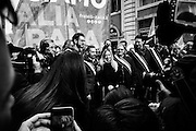 "Giorgia Meloni, leader del partito Fratelli d'Italia durante la manifestazione ""Italia Sovrana"". Roma 28 Gennaio 2017. Christian Mantuano / OneShot<br /> <br /> Leader of right wing party Fratelli d'Italia Giorgia Meloni  during the demonstration 'Italia sovrana', (Italy Sovereign) Italy, Rome 28 January 2017 . Christian Mantuano / OneShot"