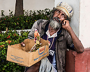 The box says more than words can for this man in Cienfuegos, Cuba