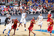 Marquis Teague #25 of the Kentucky Wildcats drives for a basket against Chris Allen #4 of the Iowa State Cyclones during the third round of the NCAA men's basketball championship on March 17, 2012 at KFC Yum! Center in Louisville, Kentucky. Kentucky advanced with an 87-71 win. (Photo by Joe Robbins)