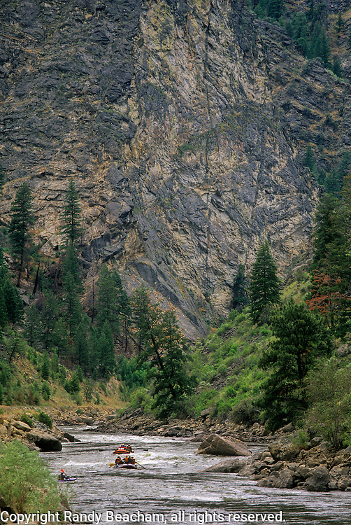 Rafting the Salmon River in summer. Idaho.