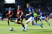 Lucas Digne (12) of Everton on the attack during the Premier League match between Bournemouth and Everton at the Vitality Stadium, Bournemouth, England on 15 September 2019.