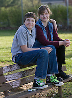 April 23, 2009 in Blacksburg, VA. Overcoming ADHD.Eleven year old Ian Reid and his mom, Ginger, hang out at the Nellie's Cave Park. Ian has ADHD that causes behavior problems. Ian has attended a summer program that he plans to attend this year as a helper for younger children..David Duncan Photography.
