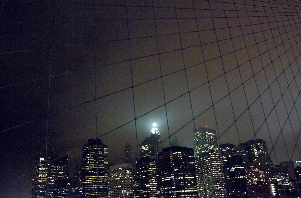 USA New York Manhattan Brooklyn Bridge aus der Serie Night Vision Nacht Nachtaufnahme