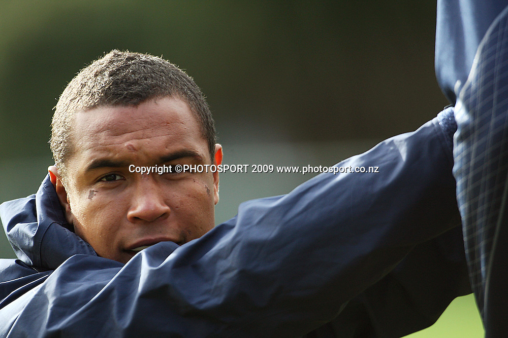 French captain Thierry Dusautoir.<br /> France Training Session at Trusts Porirua Park, Porirua, Wellington. Wednesday 17 June 2009. Photo: Dave Lintott/PHOTOSPORT