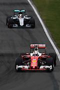 June 9-12, 2016: Canadian Grand Prix. Sebastian Vettel (GER), Ferrari, Lewis Hamilton (GBR), Mercedes