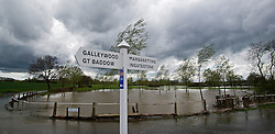 © London News Pictures. 29/04/2012. Margaretting, UK. Flooded land near the town of Margaretting in Essex on April 29, 2012 . The nearby river Wid broke it's banks following torrential rainfall. Photo credit : Ben Cawthra /LNP