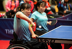 XUE Juan and LI Qian (CHN) during Team events at Day 4 of 16th Slovenia Open - Thermana Lasko 2019 Table Tennis for the Disabled, on May 11, 2019, in Dvorana Tri Lilije, Lasko, Slovenia. Photo by Vid Ponikvar / Sportida