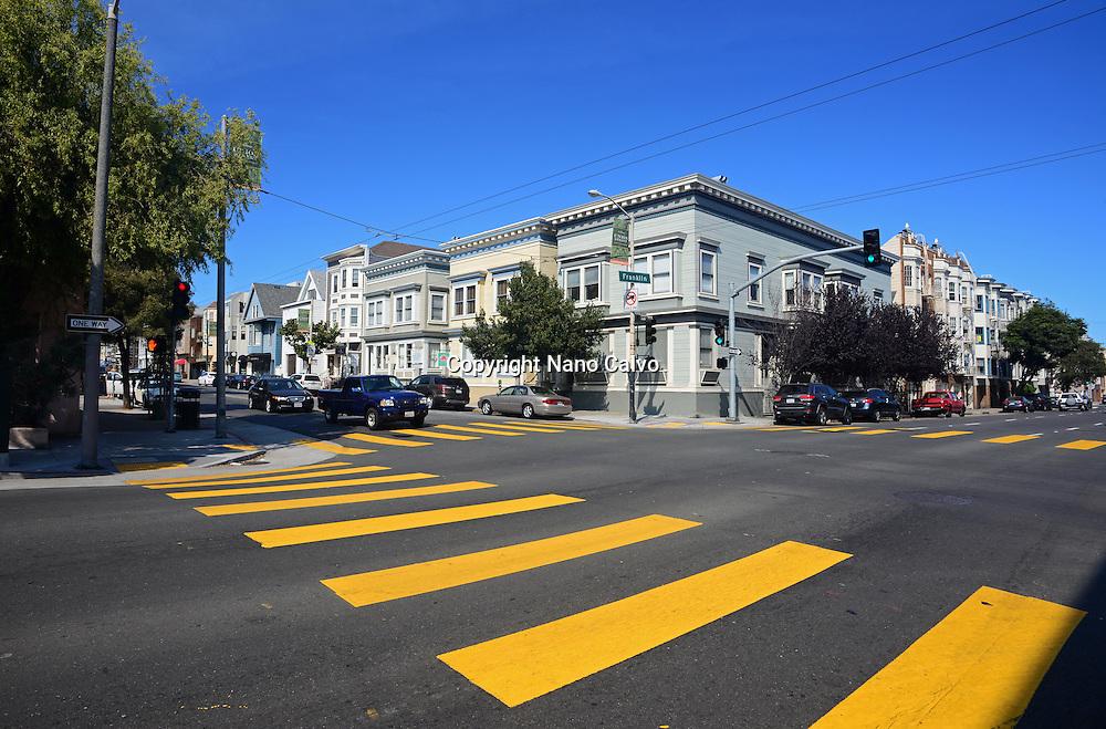 Crosswalk in San Francisco, California.