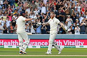 100 - Ben Stokes of England celebrates scoring a century during the International Test Match 2019 match between England and Australia at Lord's Cricket Ground, St John's Wood, United Kingdom on 18 August 2019.