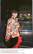 Maya Flick arriving at Jean-Paul Getty party. Cafe de Paris, Leicester Sq. London.6/3/97. Film 97136f31<br />© Copyright Photograph by Dafydd Jones<br />66 Stockwell Park Rd. London SW9 0DA Tel 0171 733 0108