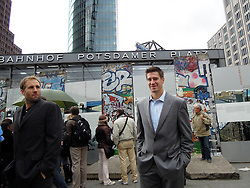08.10.2011, O2 World, Berlin, Linz, GER, NHL, Buffalo Sabres vs LA Kings, im Bild Jochen Hecht (Buffalo Sabres,#55) at the Potsdamer Platz, during the Compuware NHL Premiere, O2 World Berlin, Berlin, Germany, 2011-10-08, EXPA Pictures © 2011, PhotoCredit: EXPA/ Reinhard Eisenbauer