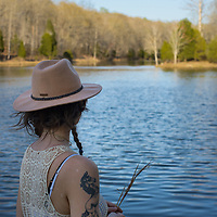 Heather at Creech Hollow Lake at Montgomery Bell State Park in Burns, Tennessee.
