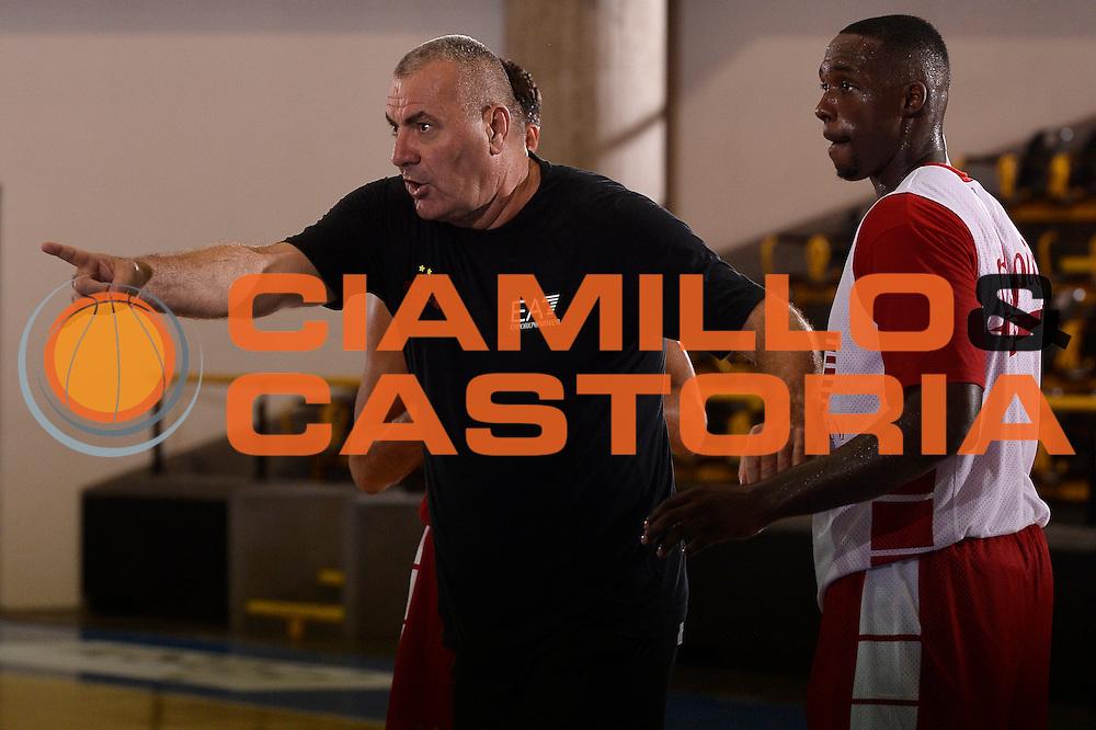 Jasmin Repesa <br /> EA7 Emporio Armani Olimpia Milano allenamento<br /> Lega Basket Serie A 2016/2017<br /> Bormio 25/08/2016<br /> Foto Ciamillo-Castoria